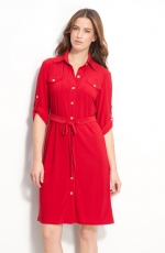 Belted shirtdress by Tahari at Nordstrom