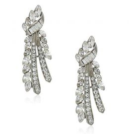 Ben-Amun Jewelry Deco Crystal Branch Post Earrings for Bridal Wedding Anniversary at Amazon