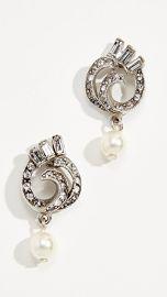 Ben-Amun Swirl Imitation Pearl Drop Post Earrings at Shopbop