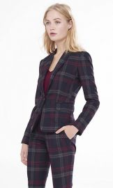 Berry Plaid Suit at Express