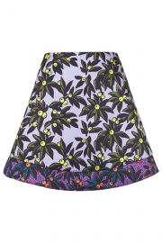 Berry print skater skirt at Topshop