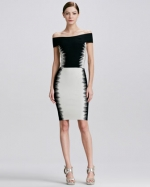 Bertha Collar Dress by Herve Leger at Neiman Marcus