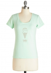 Best French Forever Tee in Glace at ModCloth