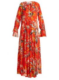 Bethany floral-print silk dress at Matches