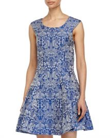 Betsey Johnson Baroque Print Fit and Flare Dress at Last Call