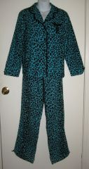 Betsey Johnson Blue Leopard Print PJs at eBay