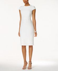 Betsey Johnson Embossed Midi Sheath Dress at Macys