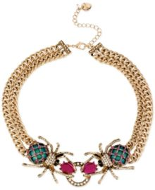 Betsey Johnson Gold-Tone Spider Frontal Necklace at ModCloth