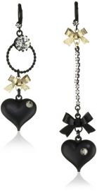 Betsey Johnson Heart Earrings at Amazon