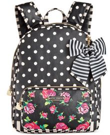 Betsey Johnson Large Bow Backpack at Macys