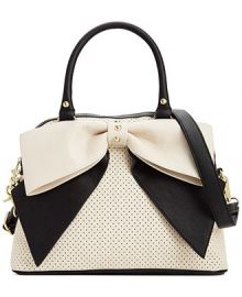 Betsey Johnson Macys Exclusive Dome Satchel in Cream at Macys