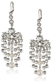 Betsey Johnson Pretty Pearl Punk Earrings at Amazon