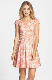Betsey Johnson Print Fit andamp Flare Dress at Nordstrom