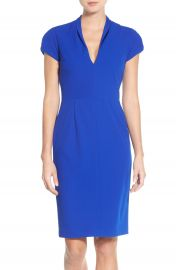 Betsey Johnson Puffed Sleeve Scuba Sheath Dress at Nordstrom