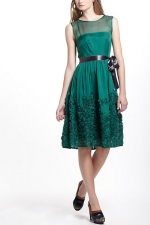 Marley's green dress from Anthropologie at Anthropologie