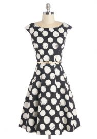 Beyond a Shadow of a Dot Dress at ModCloth