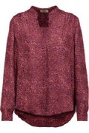 Bianca printed silk crepe de chine shirt at The Outnet
