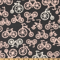 Bicycle print fabric  by Michael Miller at Amazon