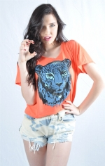 Big Cat Blue Cat Boxy Tee at Royal Rabbit