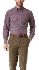 Billy Reid Walland Dusty Plaid Sport Shirt at East Dane