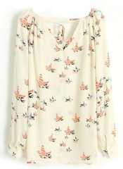 Bird Chiffon Blouse at She Inside