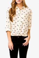 Bird Print Shirt at Forever 21
