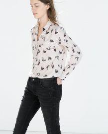 Bird Print Shirt at Zara