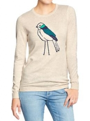 Bird graphic pullover at Old Navy