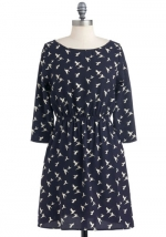 Bird print dress at Modcloth at Modcloth