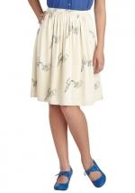 Bird print skirt at ModCloth