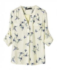 Birds print blouse at Chic Nova
