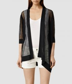 Bishi Cardigan in Black at All Saints