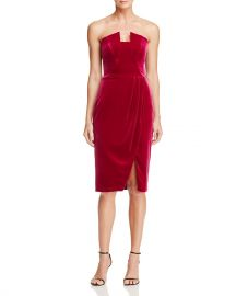 Black Halo Jolie Velvet Dress  at Bloomingdales
