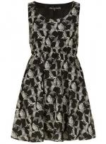 Black Bird Pocket Dress at Dorothy Perkins