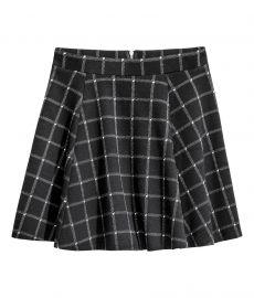 Black Checked Circle Skirt at H&M