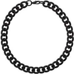 Black Chunky Chain Necklace at Topshop