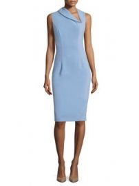 Black Halo - Blaze Solid Sheath Dress at Saks Fifth Avenue