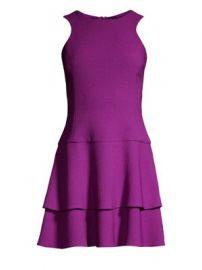 Black Halo - Cheryl Mini Ruffle Dress at Saks Fifth Avenue