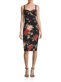 Black Halo - Floral Spaghetti Strap Sheath Dress at Saks Fifth Avenue