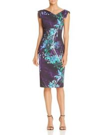 Black Halo Floral-Print Jackie O Dress at Bloomingdales