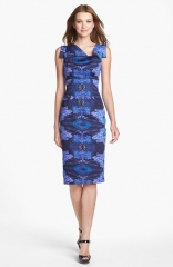 Black Halo Jackie O Print Sheath Dress at Nordstrom