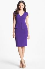 Black Halo Keyton Peplum Sheath Dress at Nordstrom