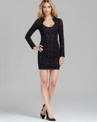 Black Halo Lace Mini Dress - Ashton at Bloomingdales