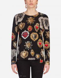 Black Heart Caddy Top by Dolce & Gabbana at Farfetch