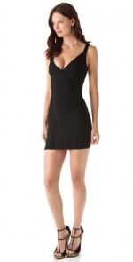 Black Herve Leger mini dress at Shopbop