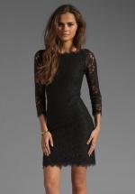 Black Zarita dress by DvF at Revolve