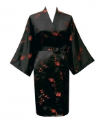Black and red oriental style robe at Amazon