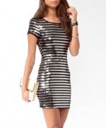 Black and silver striped dress from Forever 21 at Forever 21