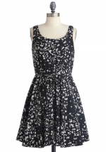 Black and white butterfly print dress at Modcloth