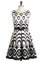 Black and white dress from Modcloth at Modcloth